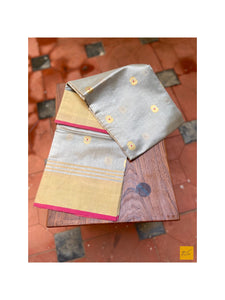 This is a gorgeous chanderi pure silk handwoven dupatta with light grey body. New trend of chanderi pure silk dupatta designs, chanderi pure Silk dupatta for artists, art lovers, architects, dupatta lovers, dupatta connoisseurs, musicians, dancers, doctors, chanderi pure Silk dupatta, indian dupatta images, latest dupattas with price, only dupatta images, new chanderi pure silk dupatta design.