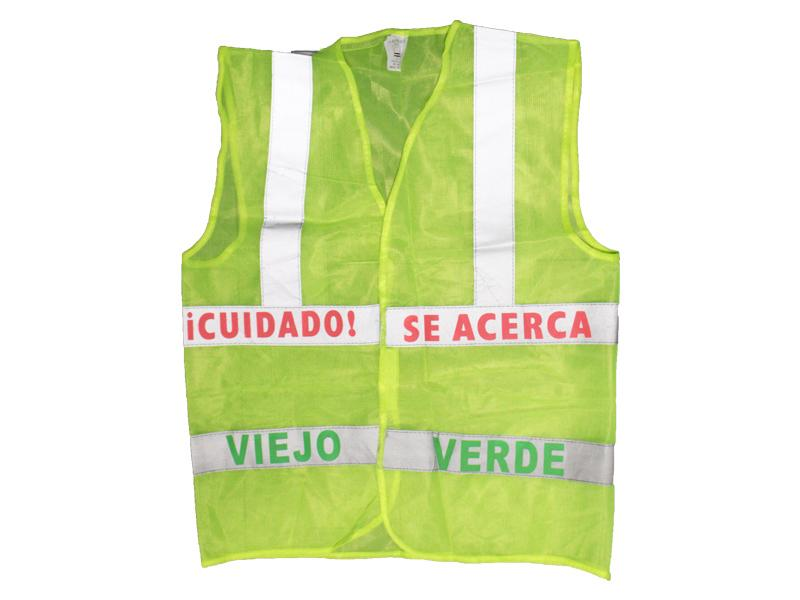 Chaleco Reflectante Viejo Verde - Airy - Carnaval Online