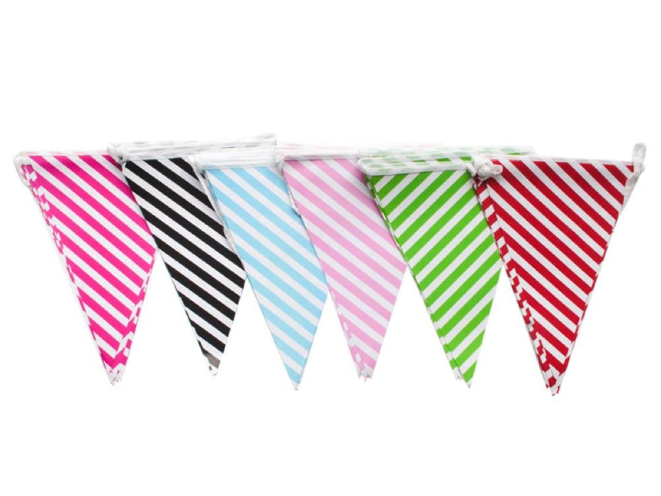 Banderines Rayas X 12 Negro - Airy - Carnaval Online