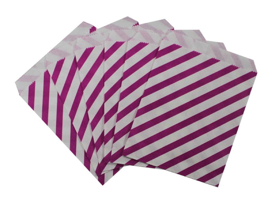 Bolsa Papel Rayas X 12 Fucsia - Airy - Carnaval Online