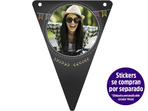 Banderines Personalizable Chalk Style X 8 - Calderon - Carnaval Online