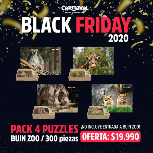 Pack 4 Puzzles Buin Zoo 300 Piezas - Carnaval Online