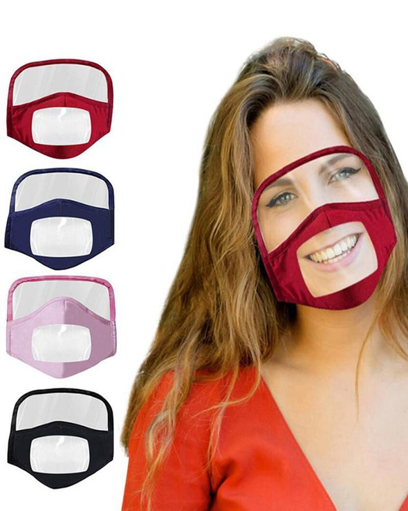 Breathable Face Mask With Clear Window Visible Expression For The Deaf And Hard Of Hearing