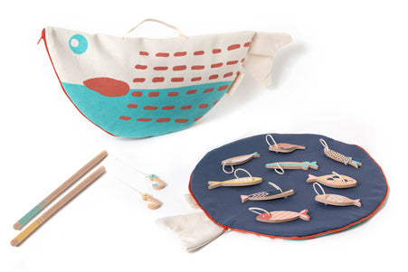 Natural Toy Store sells classic wooden toys like this handcrafted fishing game online. A good way to develop fine motor skills An eco-friendly gift for hours of fun.