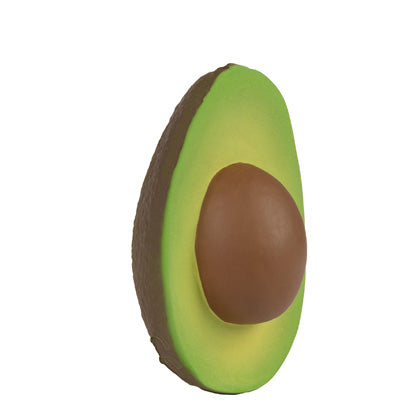 Natural Toy Store sells natural rubber fruit and veggie like this avocado toy online for kids and babies. Eco-friendly packaging.