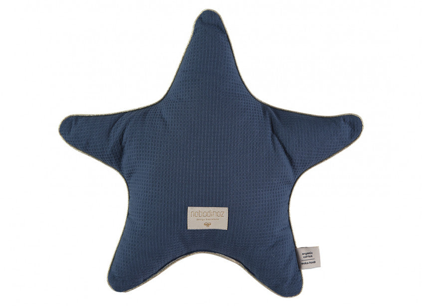 Aristotle Star Cushion - Night Blue