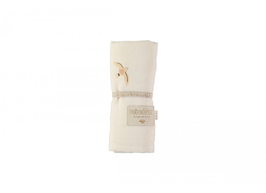 Baby Love Swaddle - Haiku Birds Natural