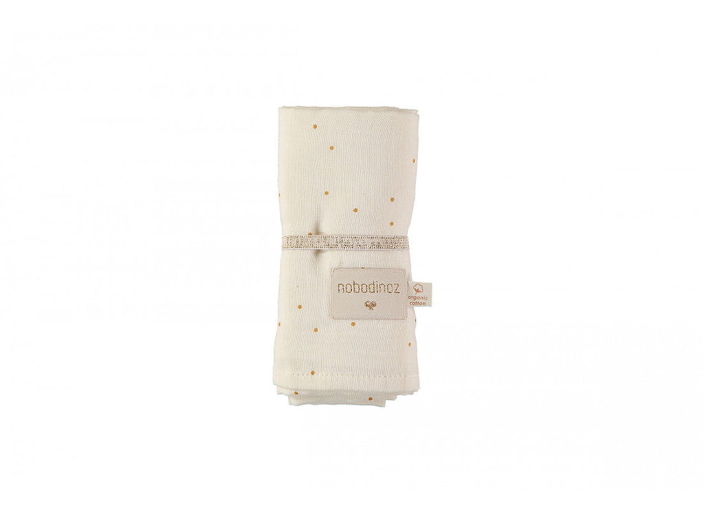 Baby Love Swaddle - Honey Sweet Dots Natural