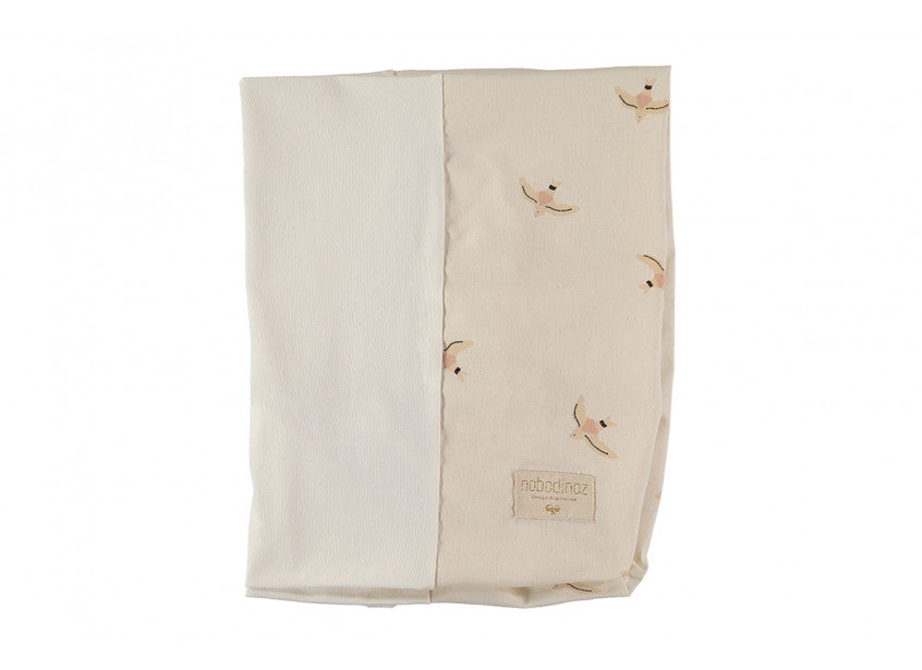 Calma Changing Mat Cover - Haiku Bird Natural