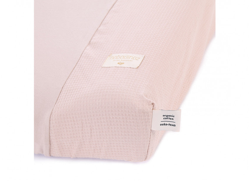 Calma Changing Mat Cover - Honeycomb Misty Pink