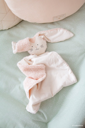 Natural Toy Store sells organic cotton baby comforter like this cute bunny online. Eco-friendly gift to welcome a newborn ethically.