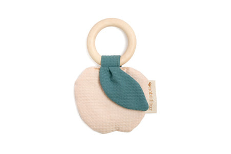 Natural Toy Store sells organic cotton ring teethers online for babies of eco-conscious parents