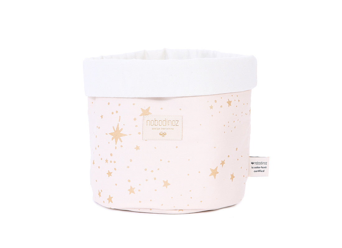 Panda Basket - Large - Gold Stella Pink
