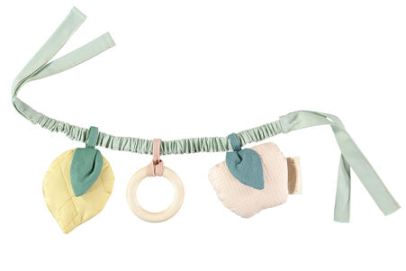 Natural Toy Store sells organic cotton toys like this fruit pram chain online. An eco-friendly gift to welcome a newborn ethically.