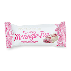 Flower & White Raspberry Meringue Bar 23.5g