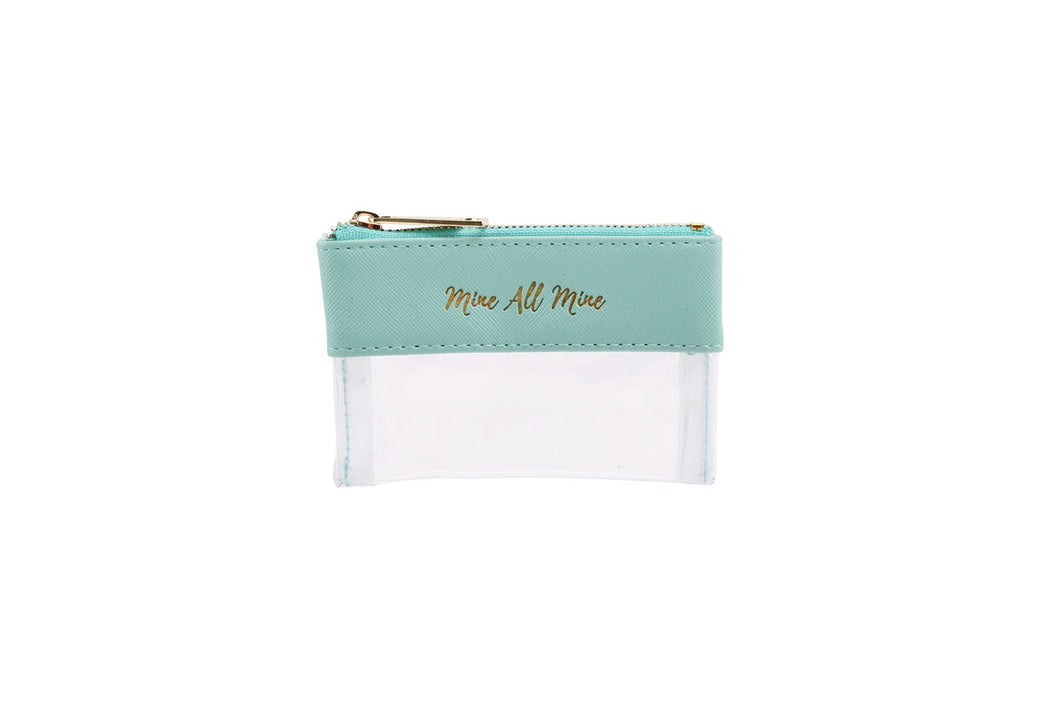 TEAL MINE ALL MINE PURSE