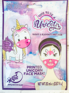 Unicorn Sheet Face Mask