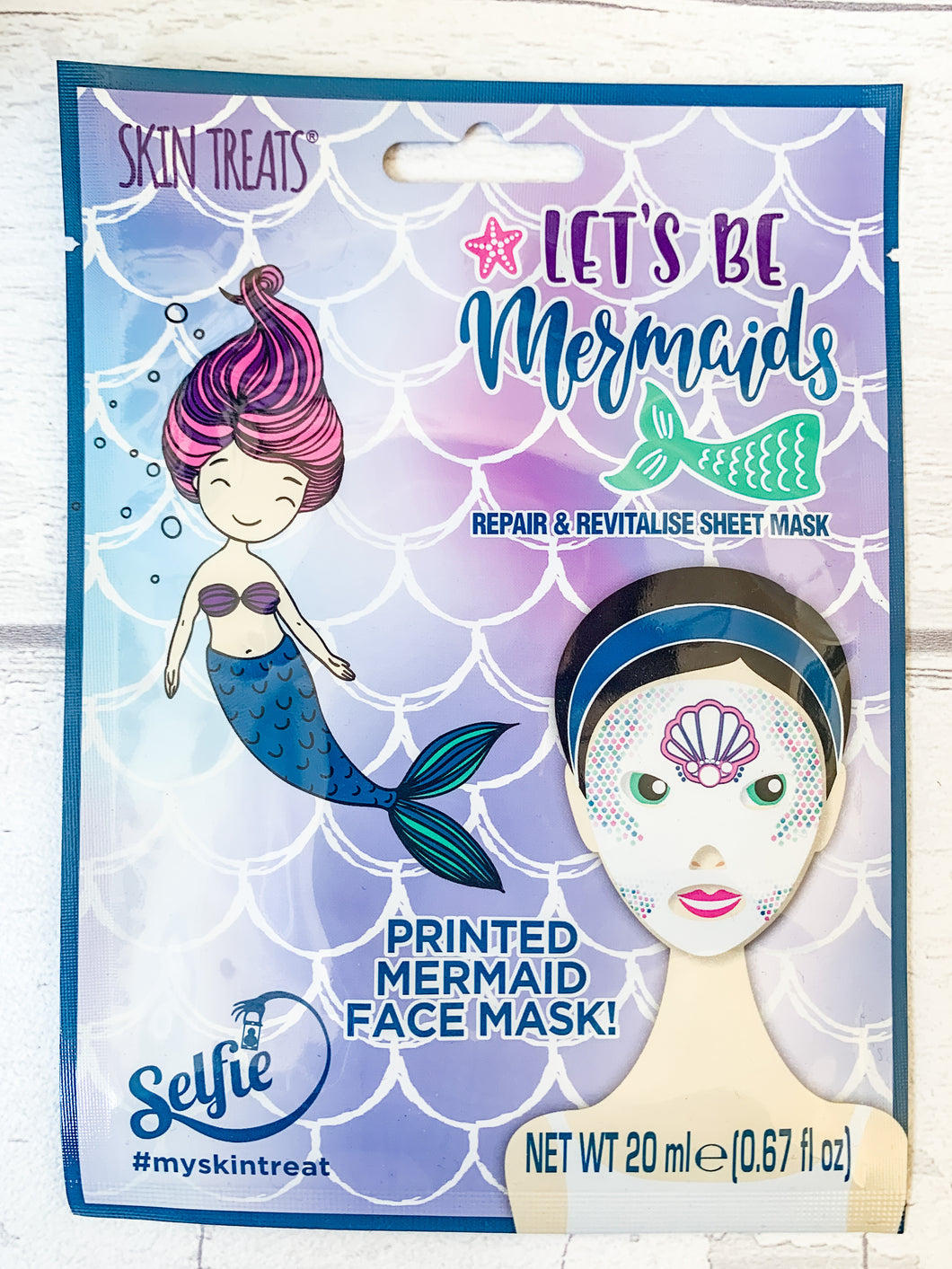 Lets be Mermaids Sheet Face Mask
