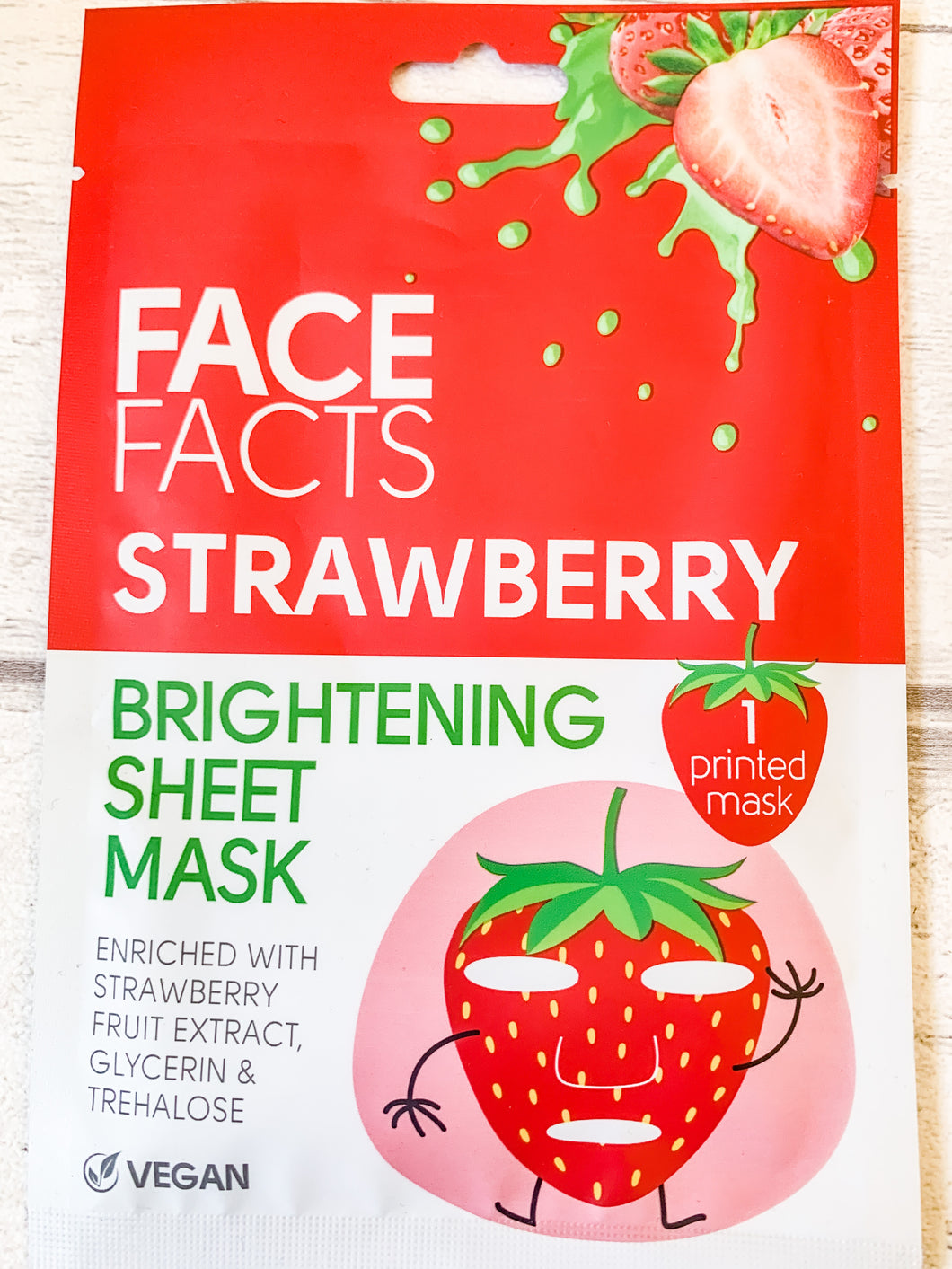 Face Facts Strawberry Sheet Face Mask