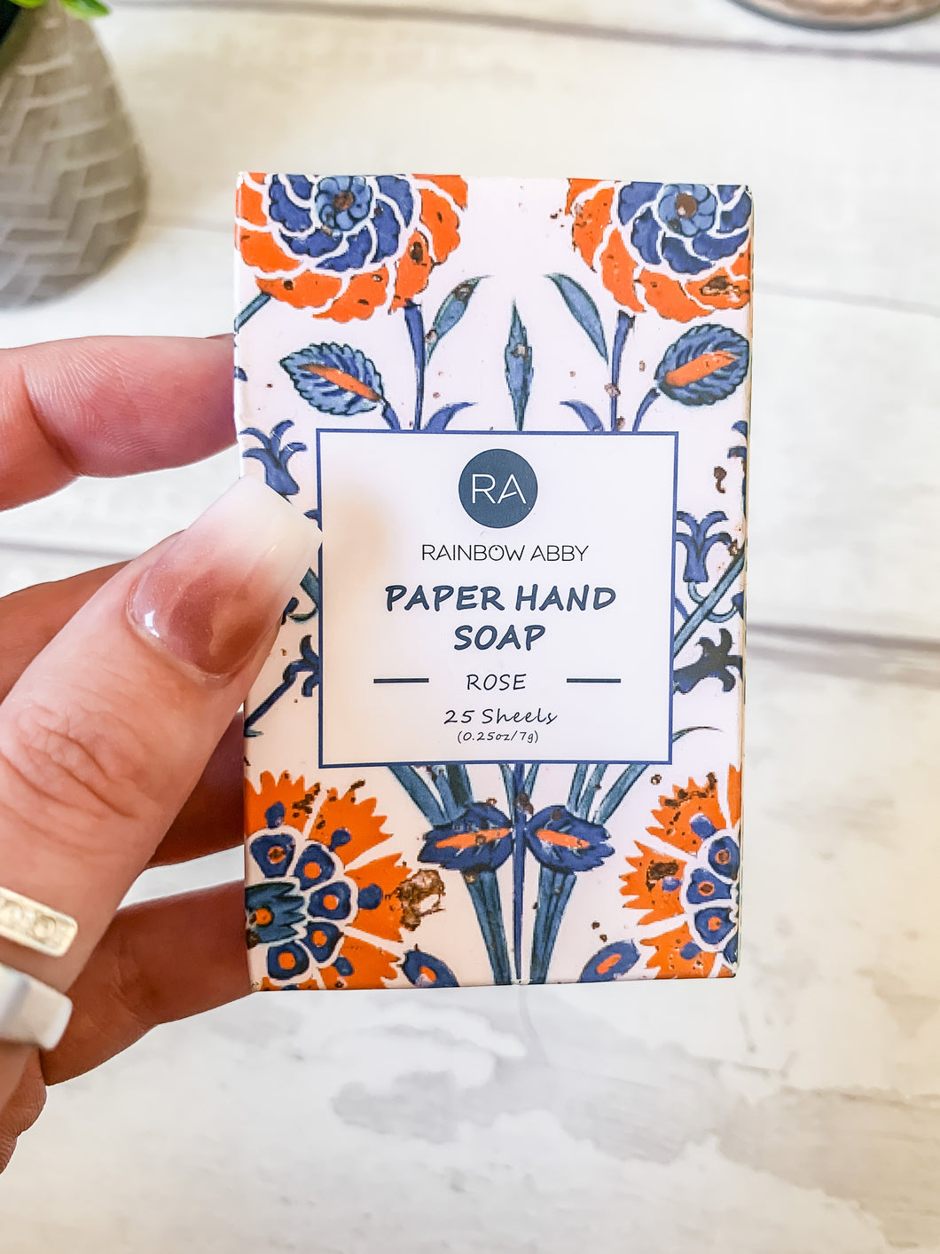 Paper Hand Soap (25 sheets) Rose