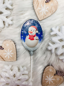 Snowman Chocolate Lolly