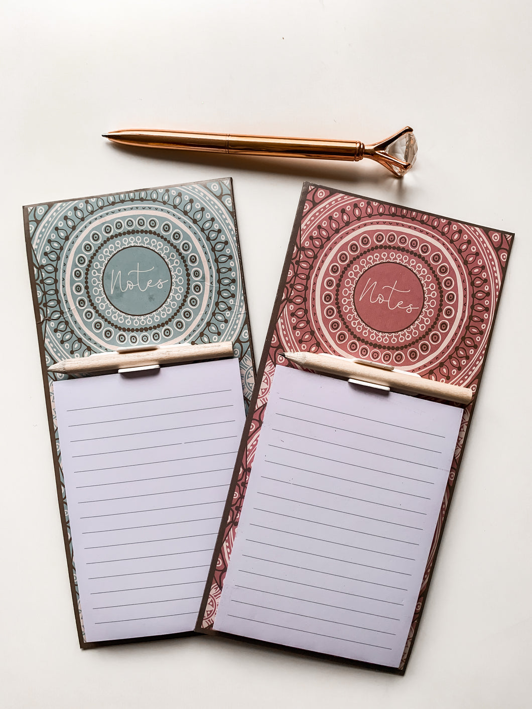 Boho Magnetic Note Pad/Shopping List
