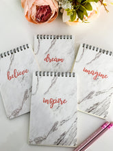 Load image into Gallery viewer, Marble Slogan Notebook