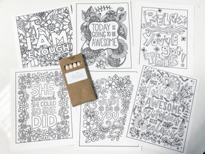 Inspirational Colouring Cards & Pencils