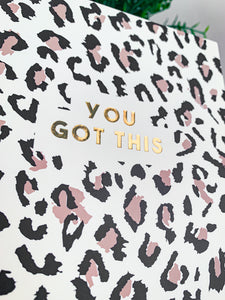 You Got This Animal Print Notebook
