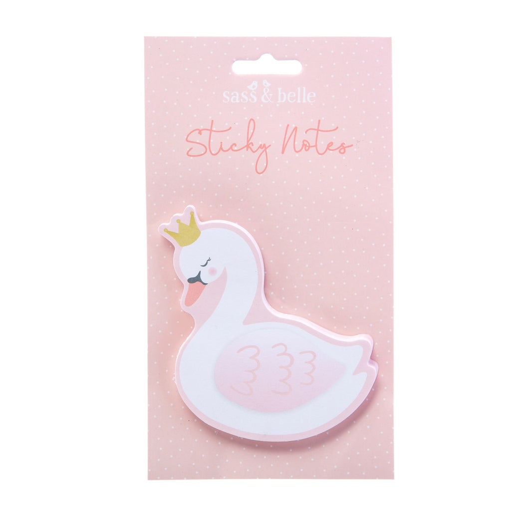 Swan Sticky Note Pad