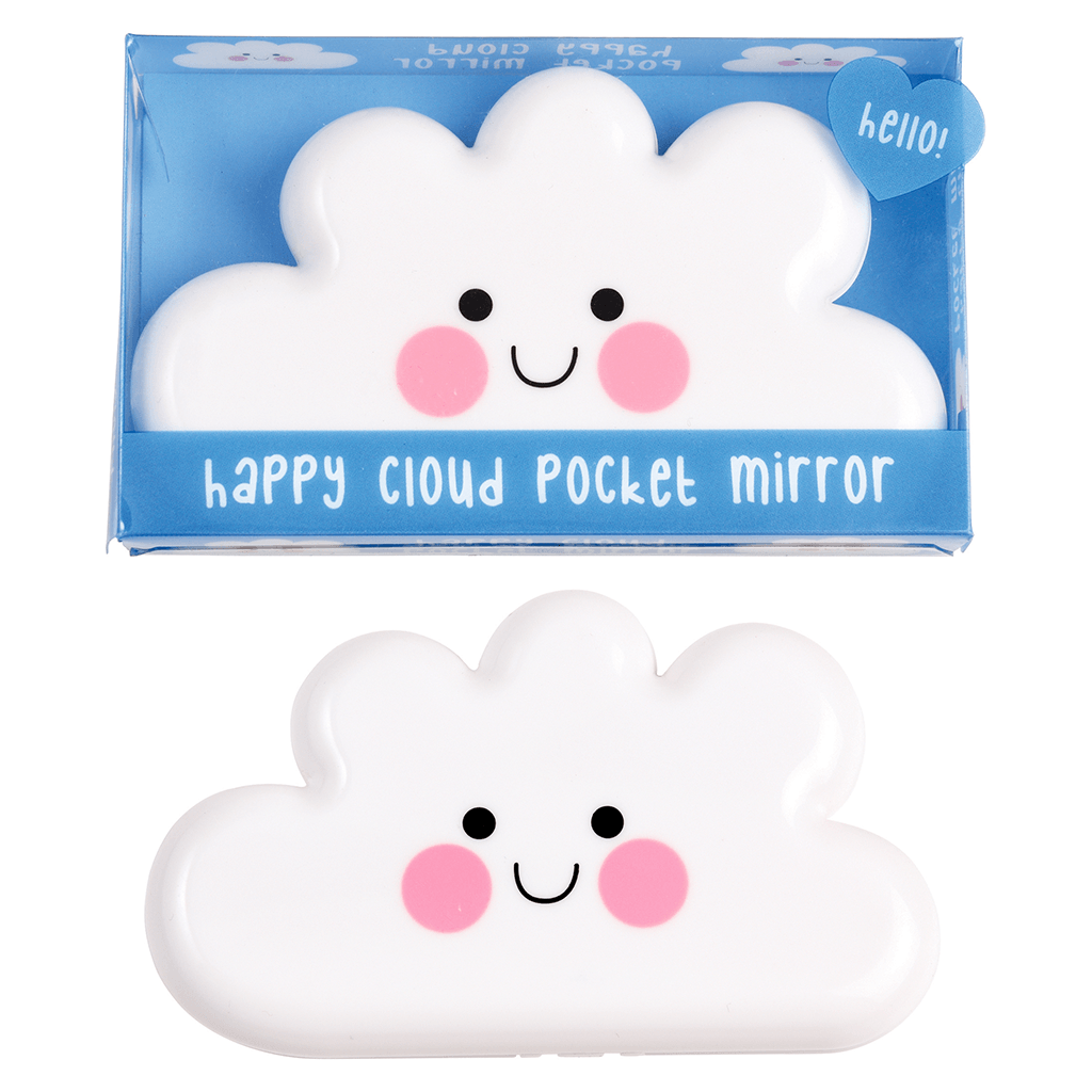 Happy Cloud Pocket Mirror