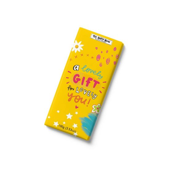 Happy News - A lovely gift for lovely you- chocolate bar 100g x