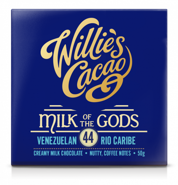 WILLIE'S CACAO MILK OF THE GODS 44% MILK CHOCOLATE BAR 50G