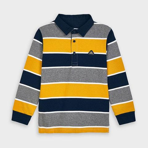 Mayoral Long sleeved striped polo shirt for boy