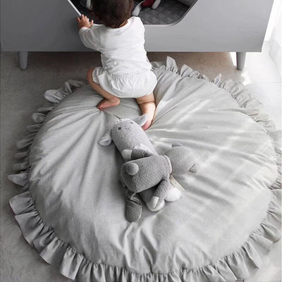Play Mat Soft Cotton - Rugs Round Floor Carpet For Kids Interior Room Decoration