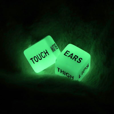 2pcs Funny Glow in Dark Love Dice Toys Adult