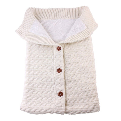 Baby Sleeping Bags Button Knit Swaddle