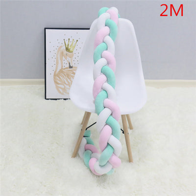Crib Bedding - Baby Bumper Bed Braid Knot