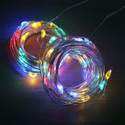 USB LED Curtain String Lights Flash Fairy Garland Remote Control