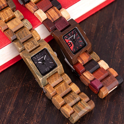 Valentines Day Gifts - Small Women Wrist Watch Wooden Quartz