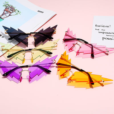 Cat Eye Sunglasses - Colorful Sun Glasses Lightning Unique Sunglasses