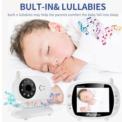 3.5 inch Video Wireless Baby Monitor - Night Vision - Voice Call - Temperature Monitoring