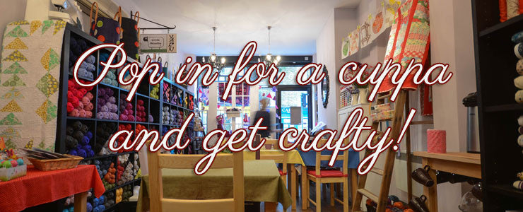 Pop in for a cuppa and get crafty
