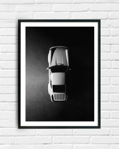 Porsche 911 Turbo Black & White Print