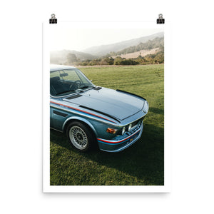 bmw csl 3.0, vintage bmw, automotive posters