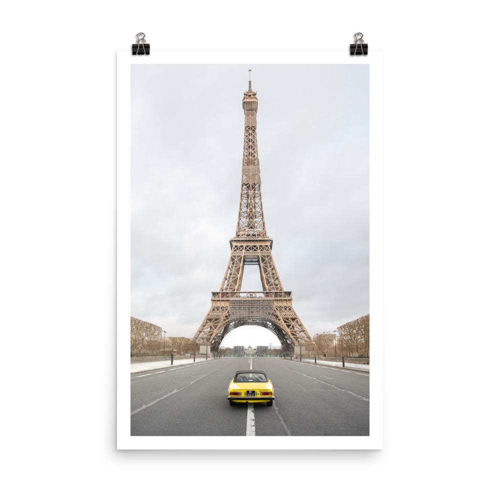 alfa romeo print, car print, car painting, paris photo, paris print