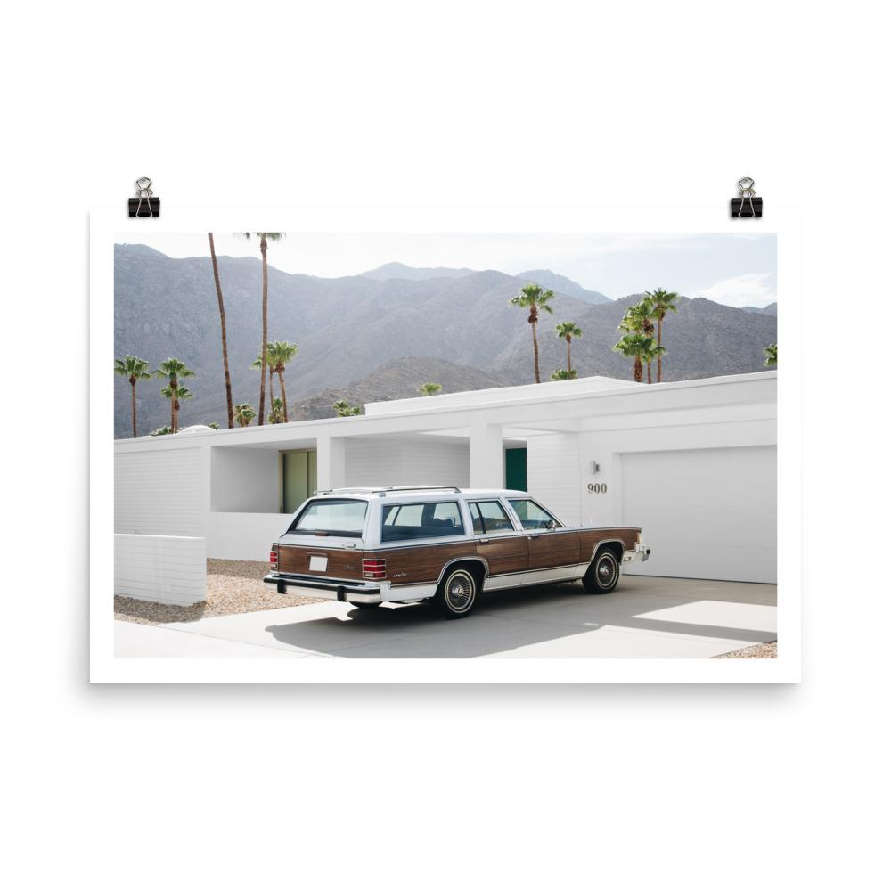 palm springs, print, car print,  vintage stationwagon