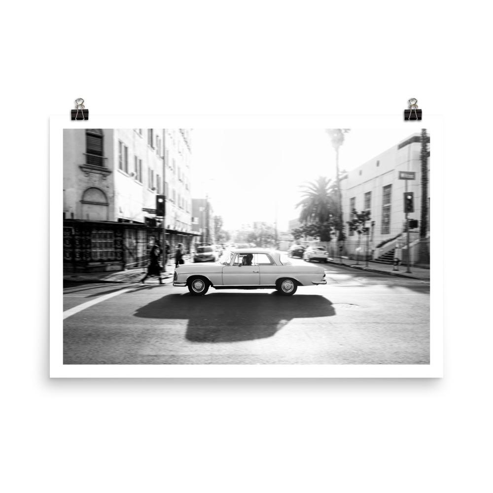 classic mercedes benz, car prints, hollywood, automotive art