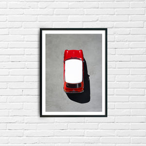 classic mini cooper, automotive print