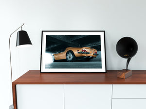 Ferrari Dino, Car Poster, automotive prints framed